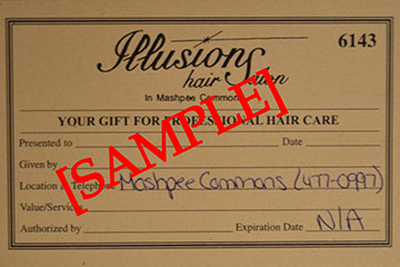 Mashpee Hair Salon | Gift Certificates